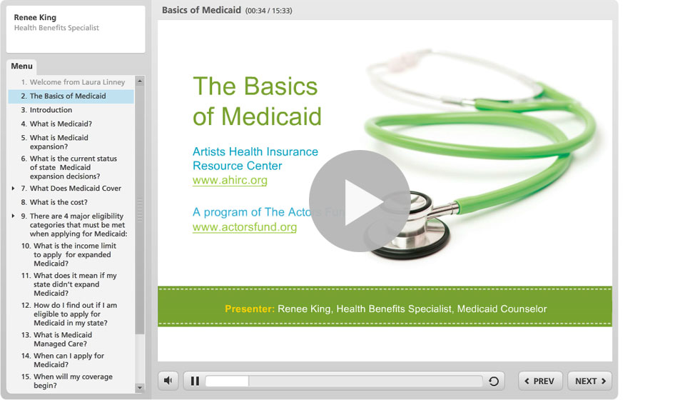 Artists health insurance resource center actors fund basics of medicaid ccuart Choice Image
