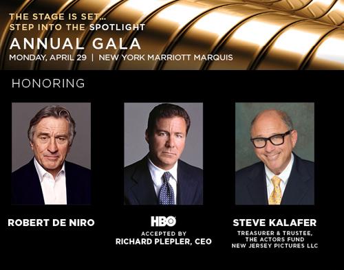 2013 Gala Honorees: Robert De Niro, Richard Plepler & Steve Kalafer